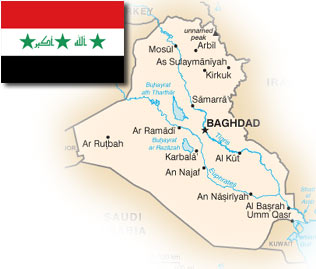 mapa irak